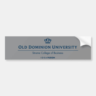 ODU Strome College of Business - Blue Bumper Sticker
