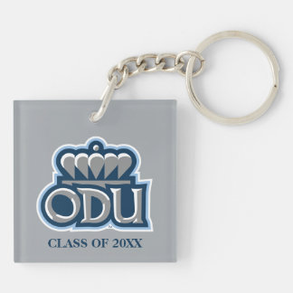 ODU with Crown and Class Year Double-Sided Square Acrylic Keychain