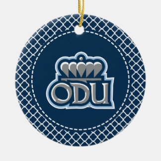 ODU with Crown Double-Sided Ceramic Round Christmas Ornament