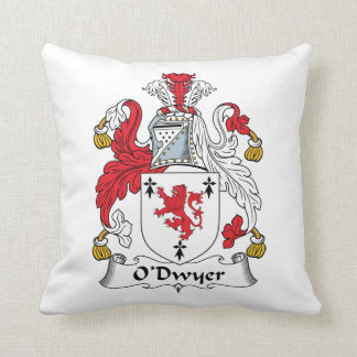 O'Dwyer Family Crest Throw Pillow