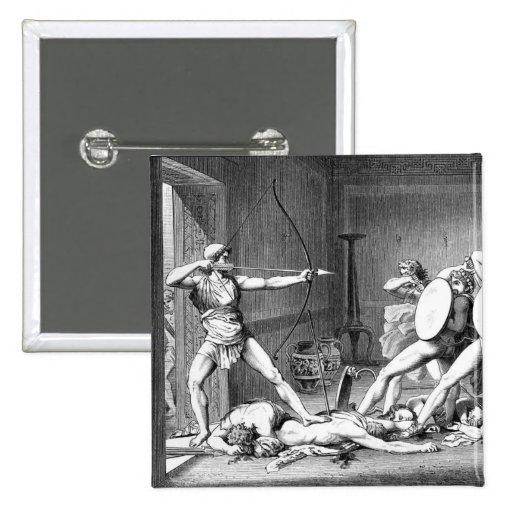 Odysseus 2 Inch Square Button