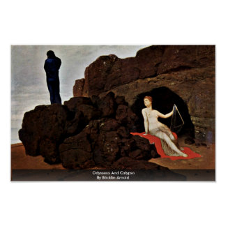 Odysseus And Calypso By Böcklin Arnold Poster