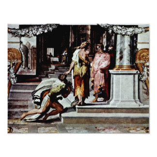 Odysseus And The Daughter Of Cadmus 4.25x5.5 Paper Invitation Card