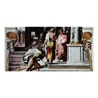 Odysseus And The Daughter Of Cadmus Picture Card