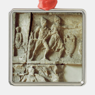 Odysseus discovering the suitors of his wife christmas tree ornament