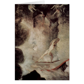 Odysseus In Front Of Scylla And Charybdis Card