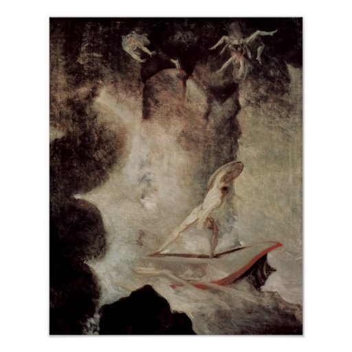 Odysseus In Front Of Scylla And Charybdis Posters
