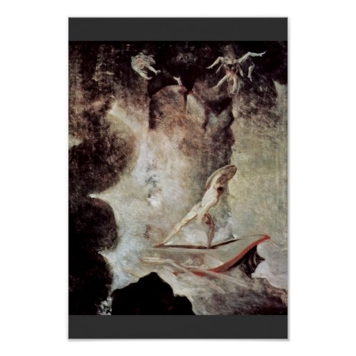 Odysseus In Front Of Scylla And Charybdis (See Als Print