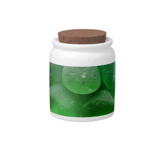 OdysseySeaGlass.com Green Sea Glass w Logo Candy Dish