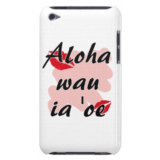 Oe del ia del wau de la hawaiana '- besos del rojo iPod touch Case-Mate fundas