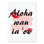 Oe del ia del wau de la hawaiana '- besos del rojo invitación 12,7 x 17,8 cm