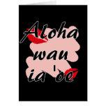 Oe del ia del wau de la hawaiana '- besos del rojo tarjeta pequeña