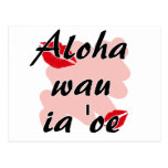 Oe del ia del wau de la hawaiana '- besos del rojo postal