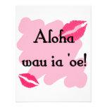 Oe del ia del wau de la hawaiana '- Hawaiian te am Invitaciones Personalizada