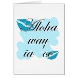 Oe del ia del wau de la hawaiana '- Hawaiian te am Felicitaciones