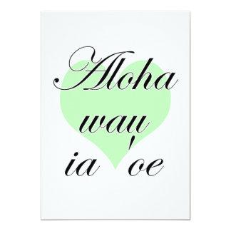 Oe del ia del wau de la hawaiana '- Hawaiian te Invitación
