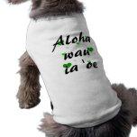 Oe del ia del wau de la hawaiana '- los corazones  camisa de mascota
