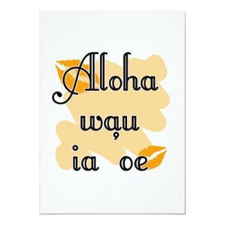 """Oe del ia del wau de la hawaiana '- naranja del invitación 5"""" x 7"""""""