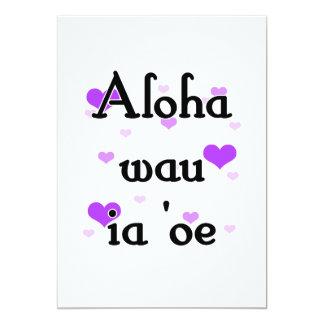 """Oe del ia del wau de la hawaiana '- púrpura del invitación 5"""" x 7"""""""