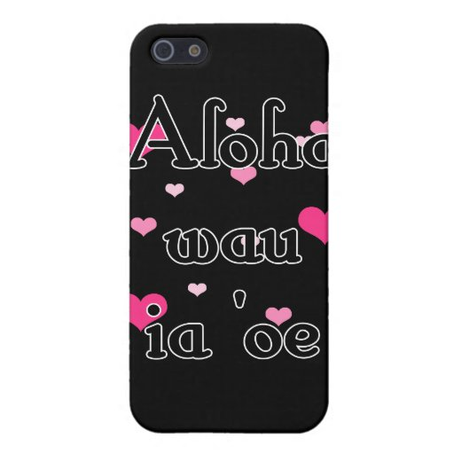 Oe del ia del wau de la hawaiana '- rosa del Hawai iPhone 5 Funda