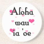 Oe del ia del wau de la hawaiana '- rosa del Hawai Posavasos Diseño