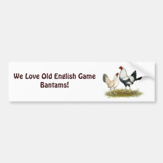 OE Game Blue Silver Wheaten Bumper Sticker