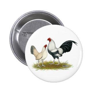 OE Game Blue Silver Wheaten Pinback Button