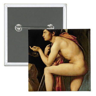 Oedipus and the Sphinx, 1808 Pinback Button