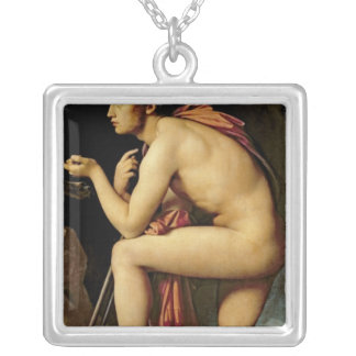 Oedipus and the Sphinx, 1808 Silver Plated Necklace