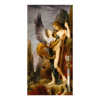 Oedipus and the Sphinx by Gustave Moreau Custom Photo Card