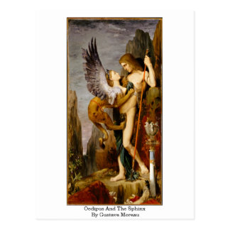 Oedipus And The Sphinx By Gustave Moreau Postcard