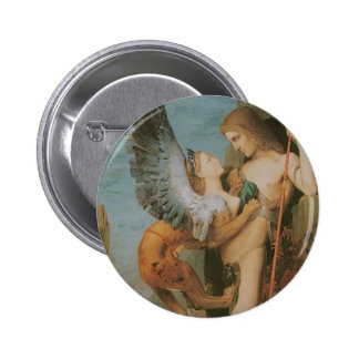 Oedipus and the Sphinx Pinback Button