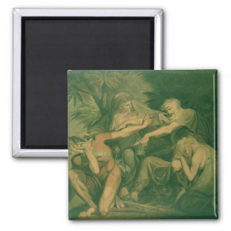 "Oedipus cursing his son Polynices - ""Go to Ruin, S 2 Inch Square Magnet"