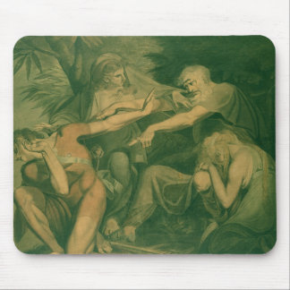 """Oedipus cursing his son Polynices - """"Go to Ruin, S Mouse Pad"""
