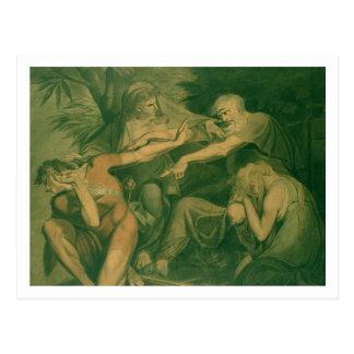 "Oedipus cursing his son Polynices - ""Go to Ruin, S Postcard"