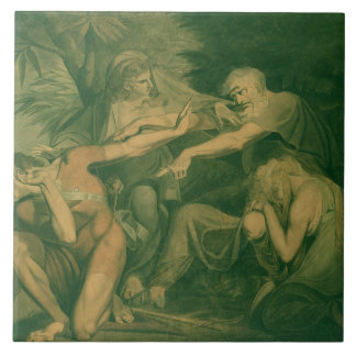 """Oedipus cursing his son Polynices - """"Go to Ruin, S Tile"""