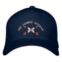 OEF Combat Veteran Artillery Crossed Cannon Hat