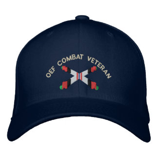 OEF Combat Veteran Artillery Crossed Cannon Hat Embroidered Hats