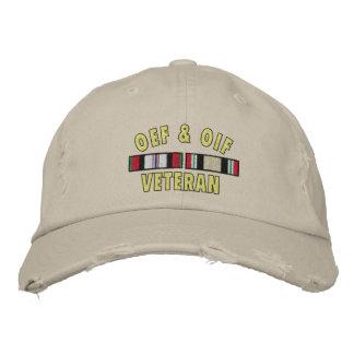 OEF& OIF Vet Embroidered Baseball Cap