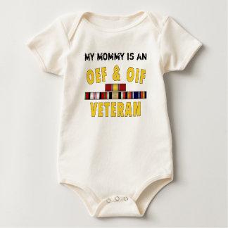 OEF OIF VET Mommy Baby Bodysuit