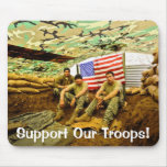 OEF Soldiers, Support Our Troops Mouse Pad