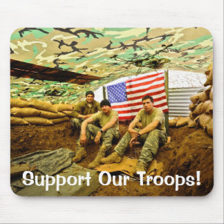 OEF Soldiers, Support Our Troops Mousepad