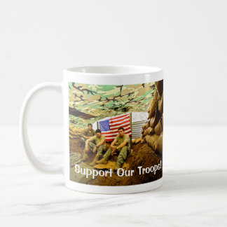 OEF Soldiers, Support Our Troops Classic White Coffee Mug