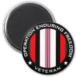 OEF Veteran 2 Inch Round Magnet
