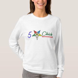 OES:5 Star Chick (LS White) T-Shirt