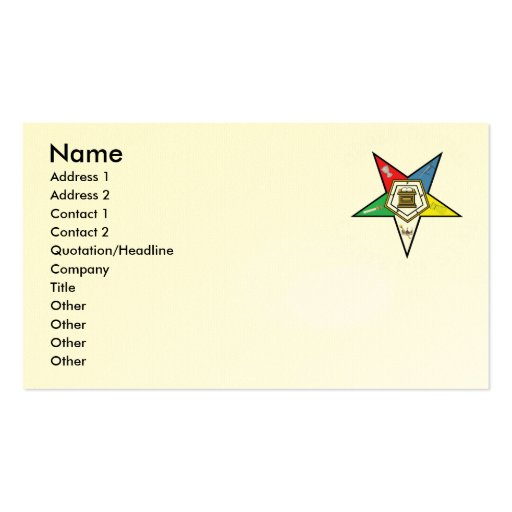 Order of the eastern star business card templates bizcardstudio oes biz cards business cards reheart Images