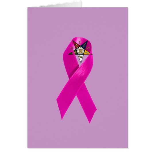 OES Breast Cancer Ribbon Card