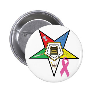 OES Breast Cancer Ribbon Pinback Button