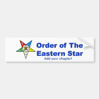 OES BUMPER STICKER, Add your chapter! Bumper Sticker