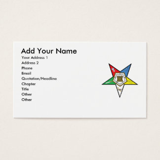 Order of eastern star business cards templates zazzle oes business card reheart Image collections